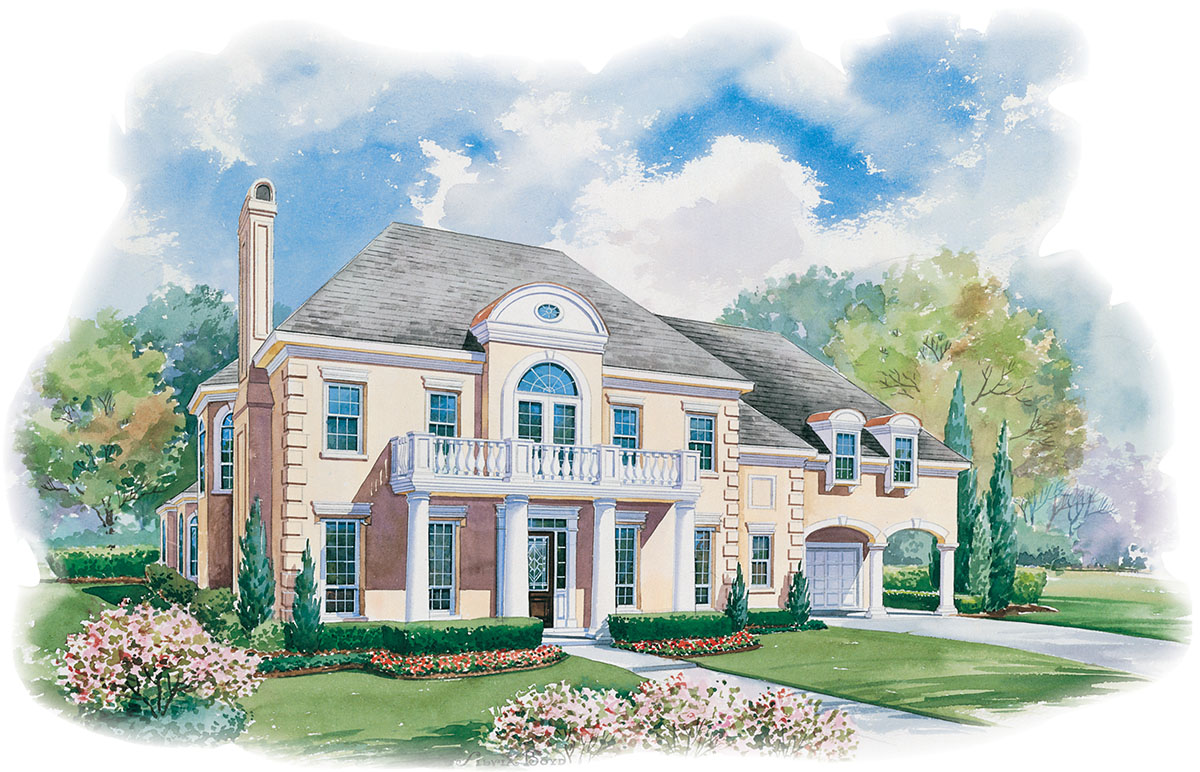 Elegant georgian home plan 41911db architectural for Georgian home designs