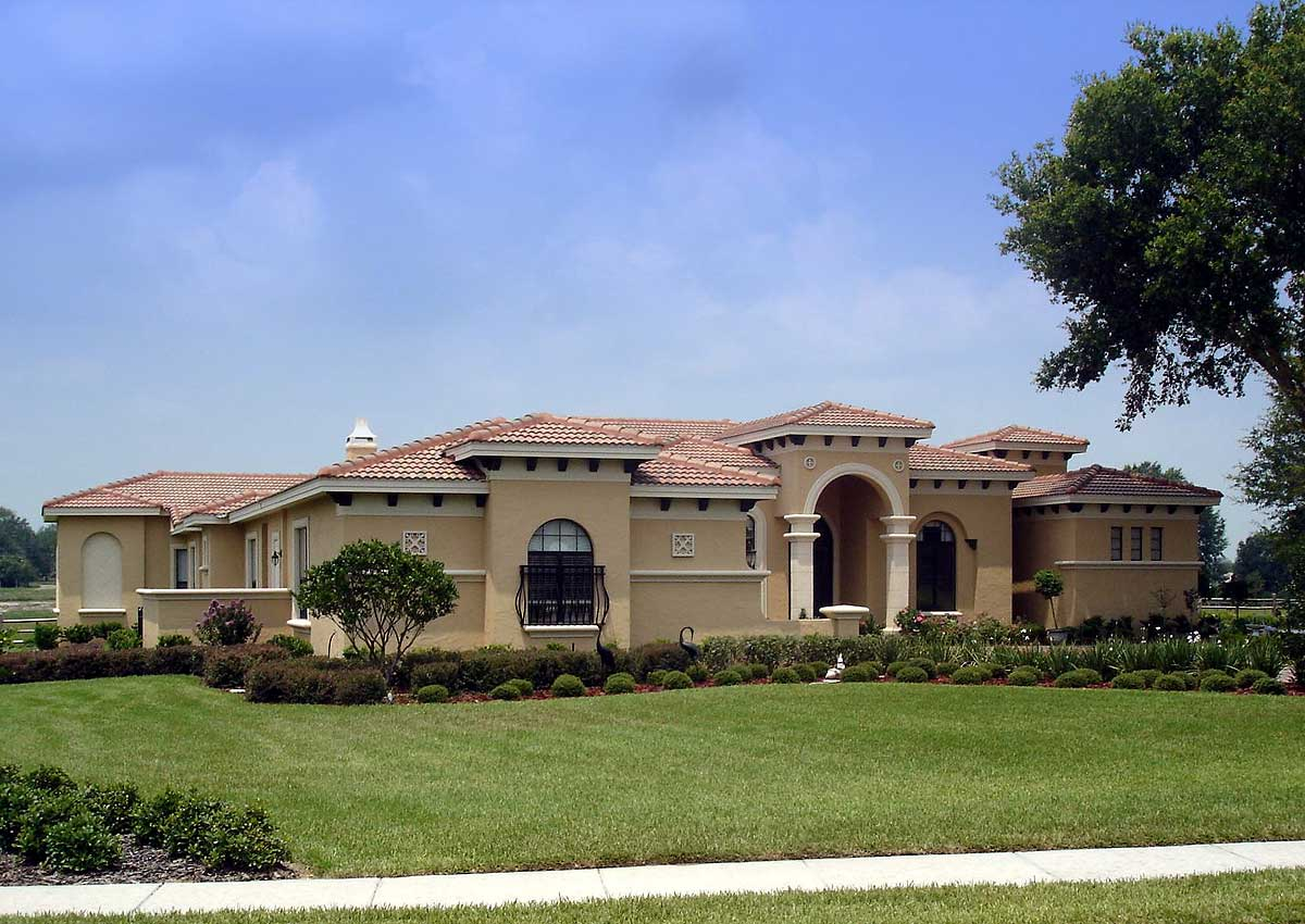 Grand Mediterranean Home Plan 42041mj European