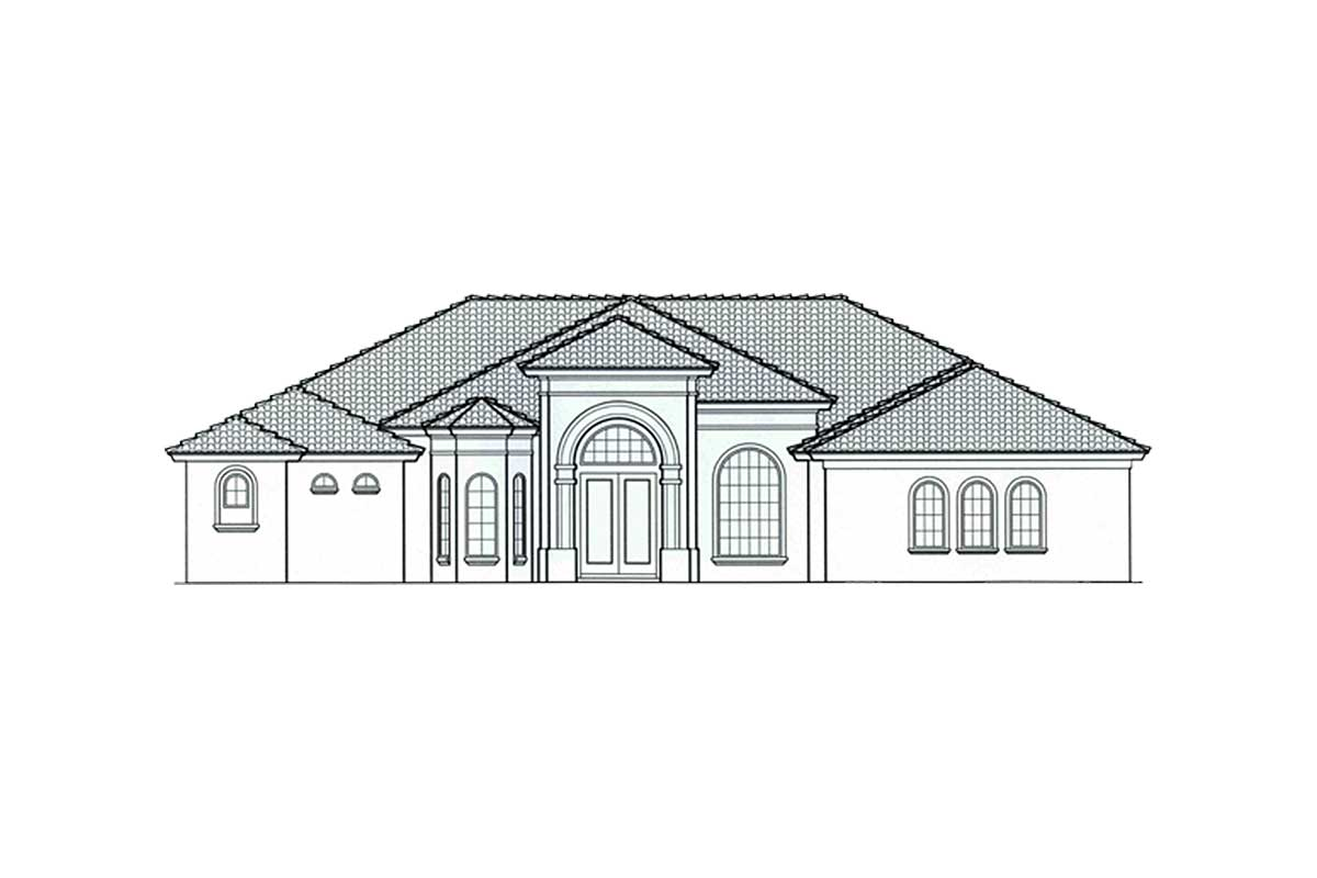 Stone Elevation Cad : Palladian windows with stone accents mj st floor