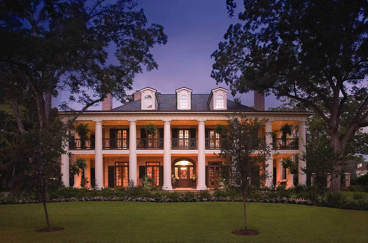 Plantation house plans architectural designs for Luxury plantation home plans