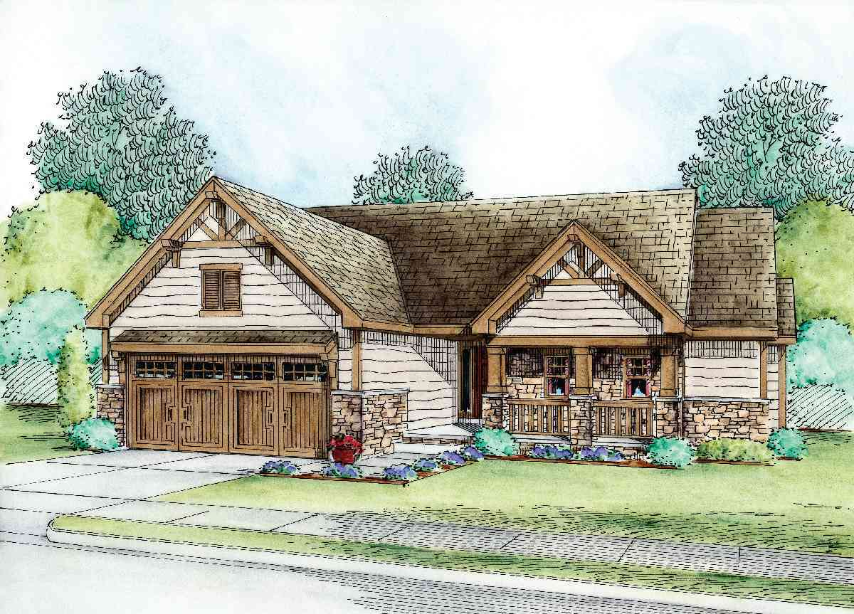 Craftsman ranch home plan 42224db architectural for Craftsman ranch house plans