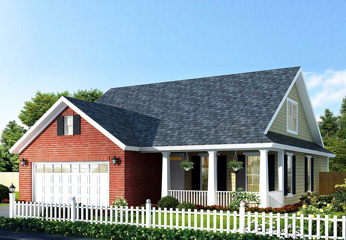 Flexible cottage house plan 42244wm 1st floor master for Flexible house plans
