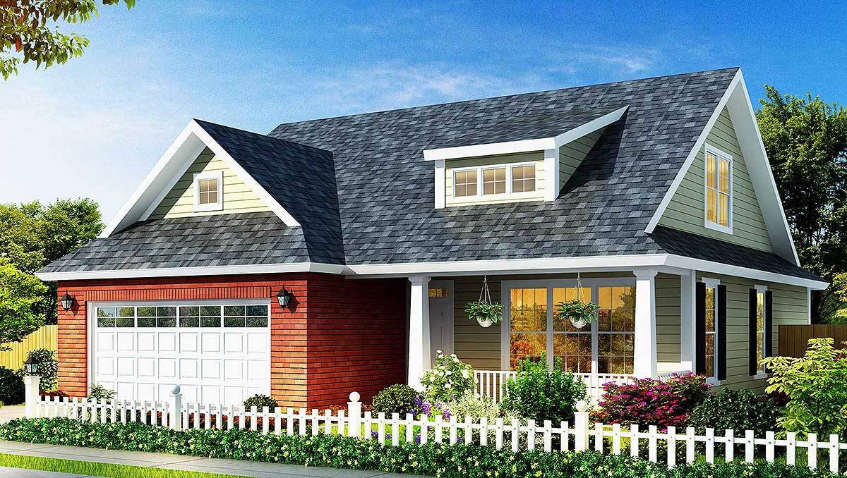 Affordable cottage home plan 42245wm architectural for Affordable cottage house plans