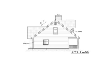 Farmhouse Plan with Upstairs Game Loft - 42246WM thumb - 02