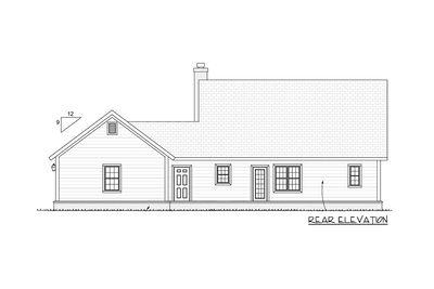 Farmhouse Plan with Upstairs Game Loft - 42246WM thumb - 03