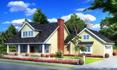Farmhouse Plan with Upstairs Game Loft - 42246WM thumb - 01