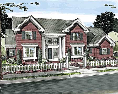 Stately brick home plan 42253wm architectural designs for Stately house plans