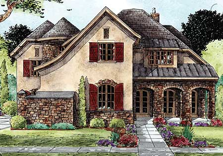 Lap of luxury 42277db 2nd floor master suite butler for French tudor house plans
