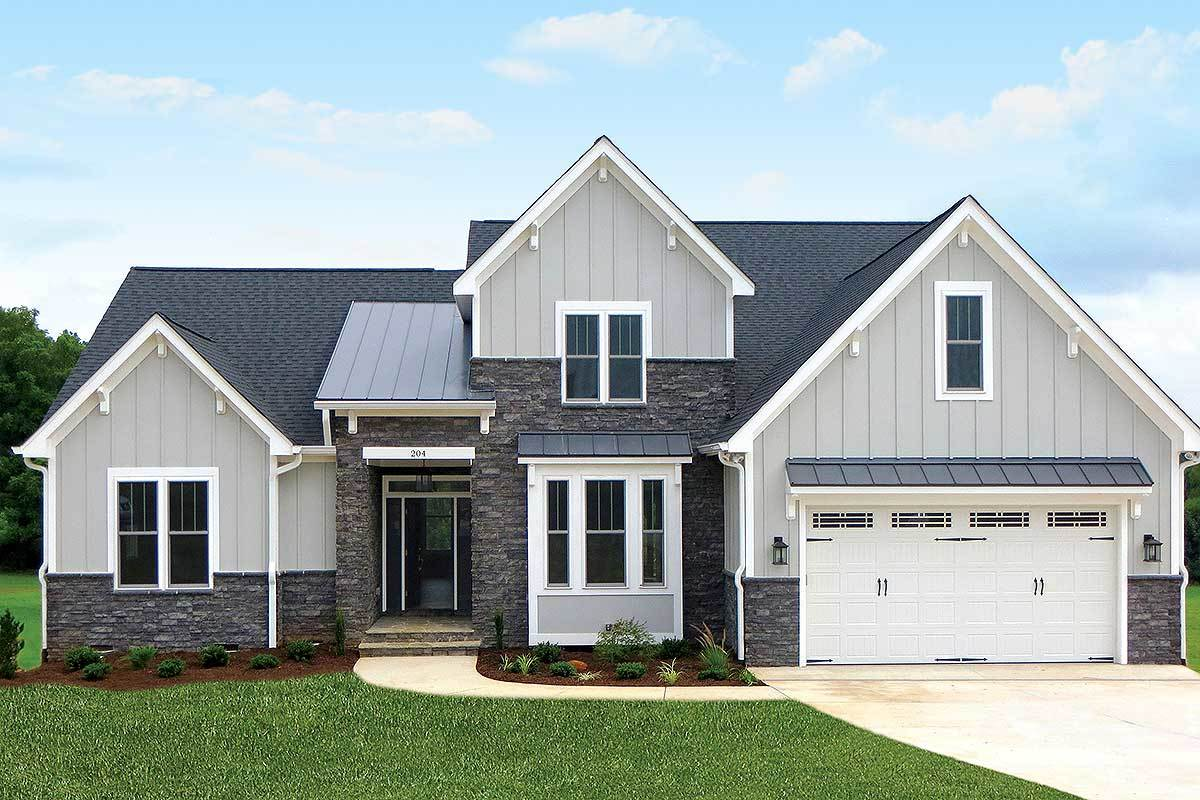 4 bedroom craftsman with cathedral ceiling 42296db for Cathedral ceiling home plans