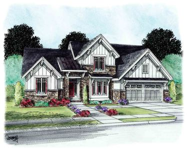 4 bedroom craftsman with cathedral ceiling 42296db for Cathedral ceiling house plans