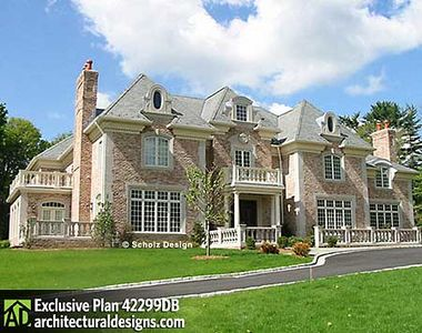 Opulent european manor home 42299db architectural for European manor house plans