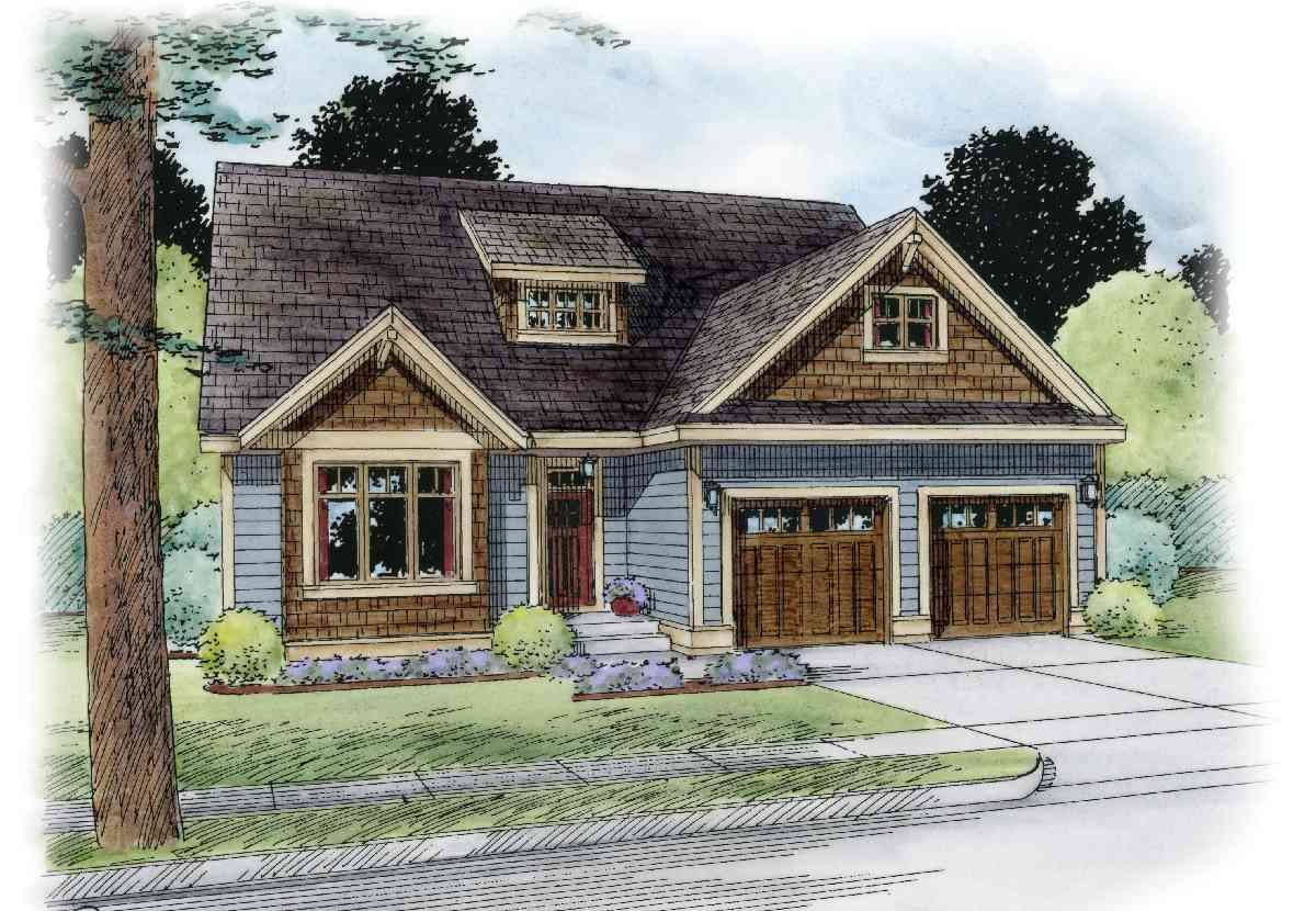 Northwest house plan with flex room and game room for Northwest home plans