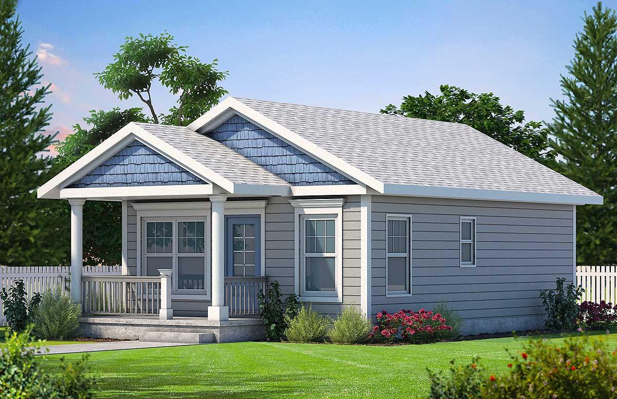 Cozy 2 Bed Tiny House Plan - 42332DB | Architectural ...
