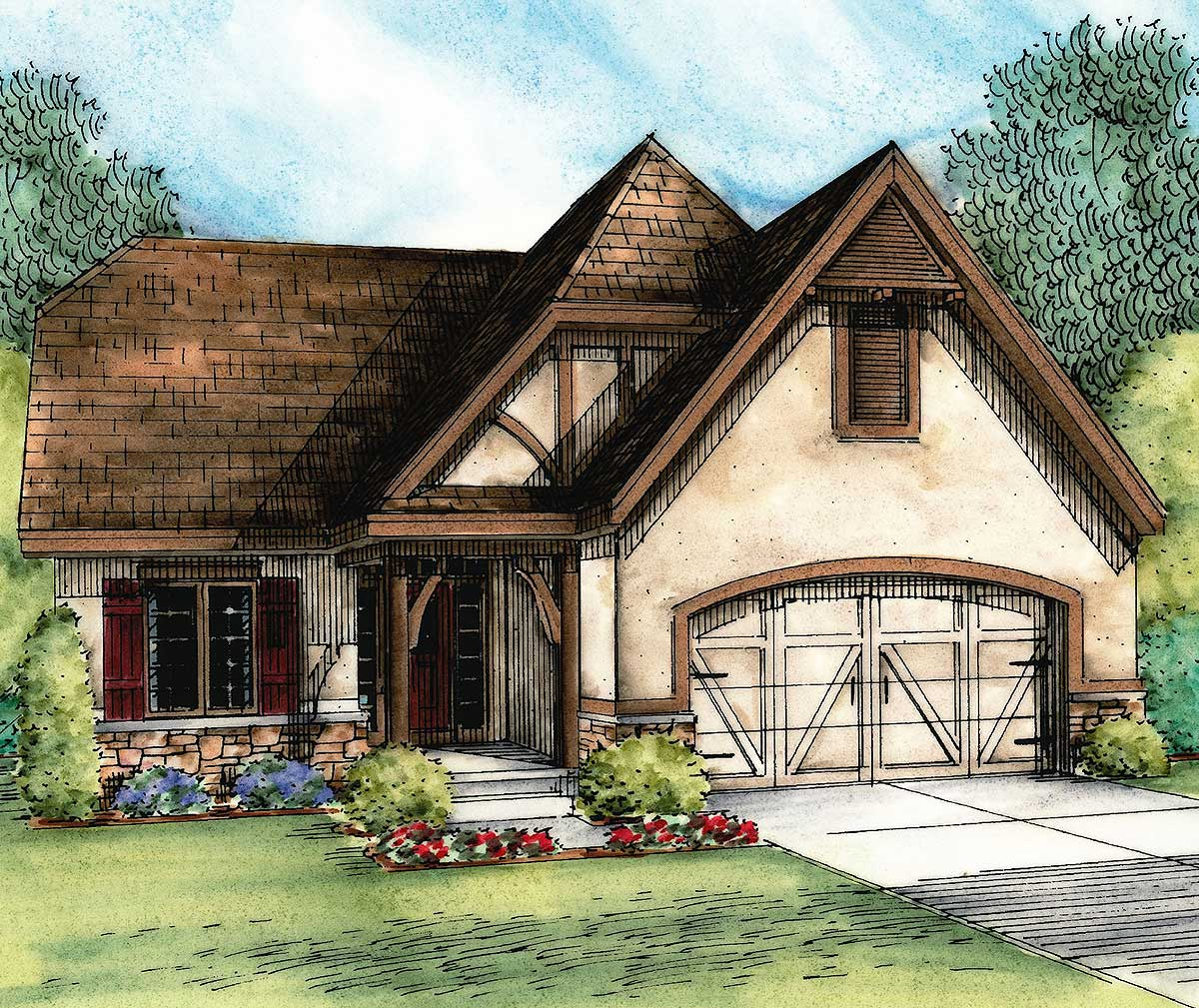 European cottage with expansion possibilities 42345db for European cottage house plans