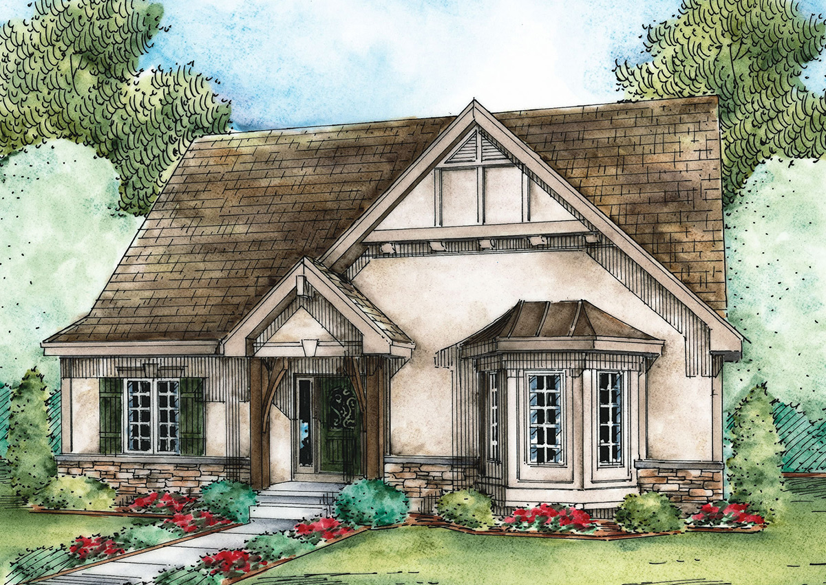 Adorable european cottage 42347db architectural for Architecturaldesigns com house plan 56364sm asp