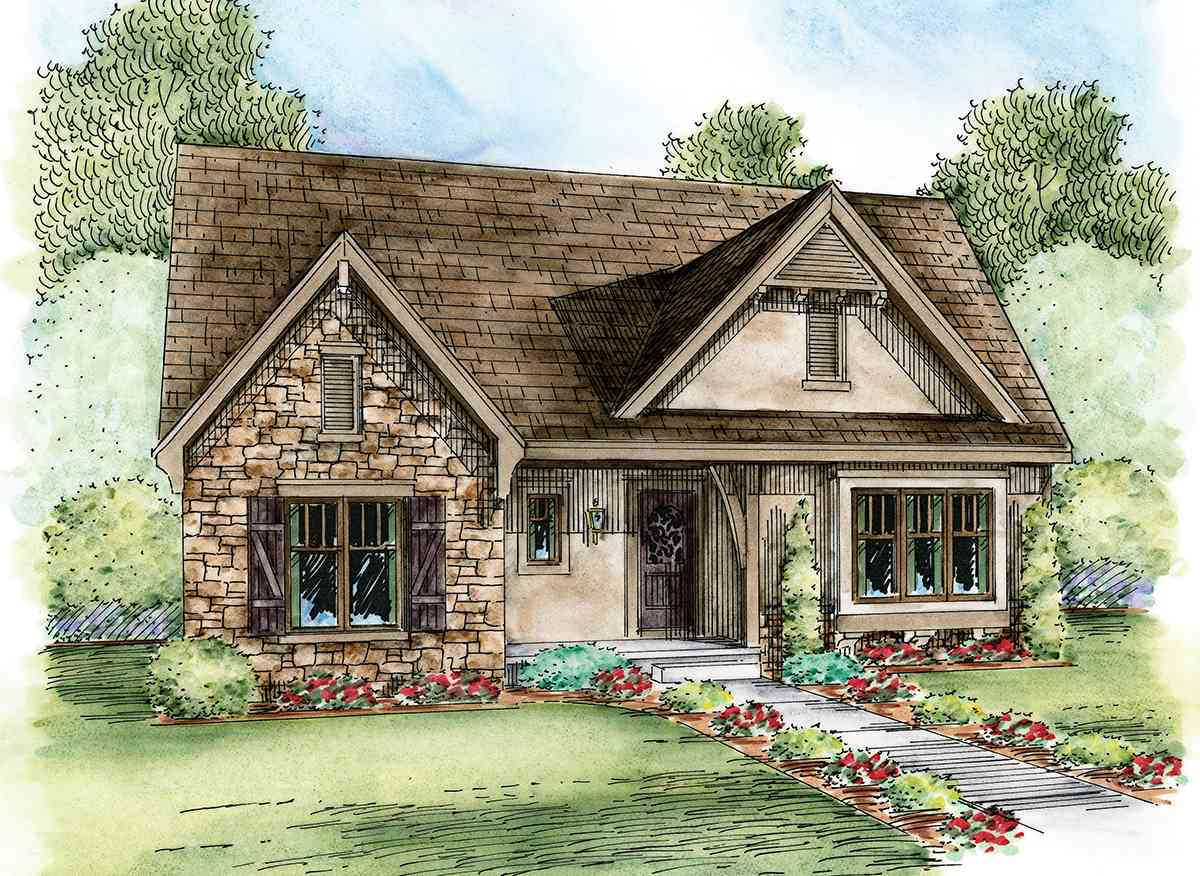 Euro Cottage Plan With Expansion Possibilities 42351db