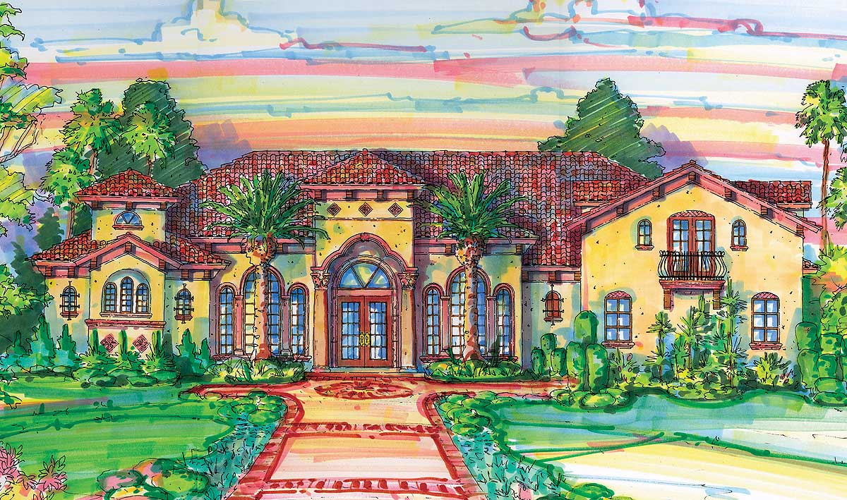 Grand palladian design 4246mj architectural designs for Palladian home designs