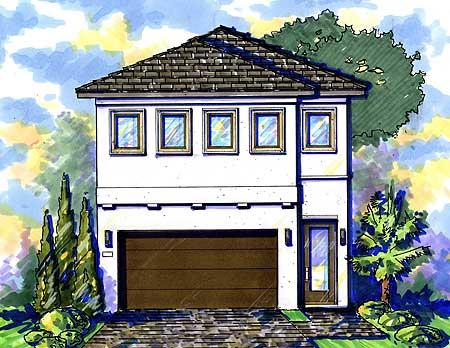 Narrow lot mediterranean house plan 42823mj 2nd floor for Narrow lot mediterranean house plans