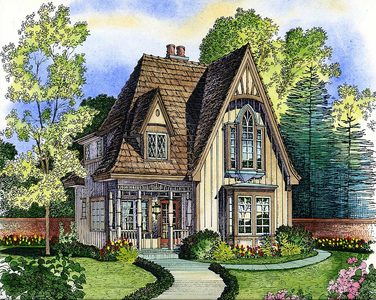 Adorable Cottage - 43000PF | Architectural Designs - House Plans