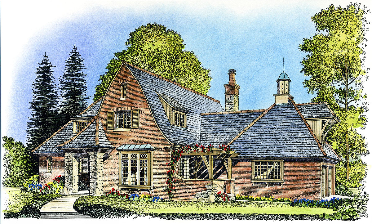 English cottage 43001pf architectural designs house for English farmhouse plans
