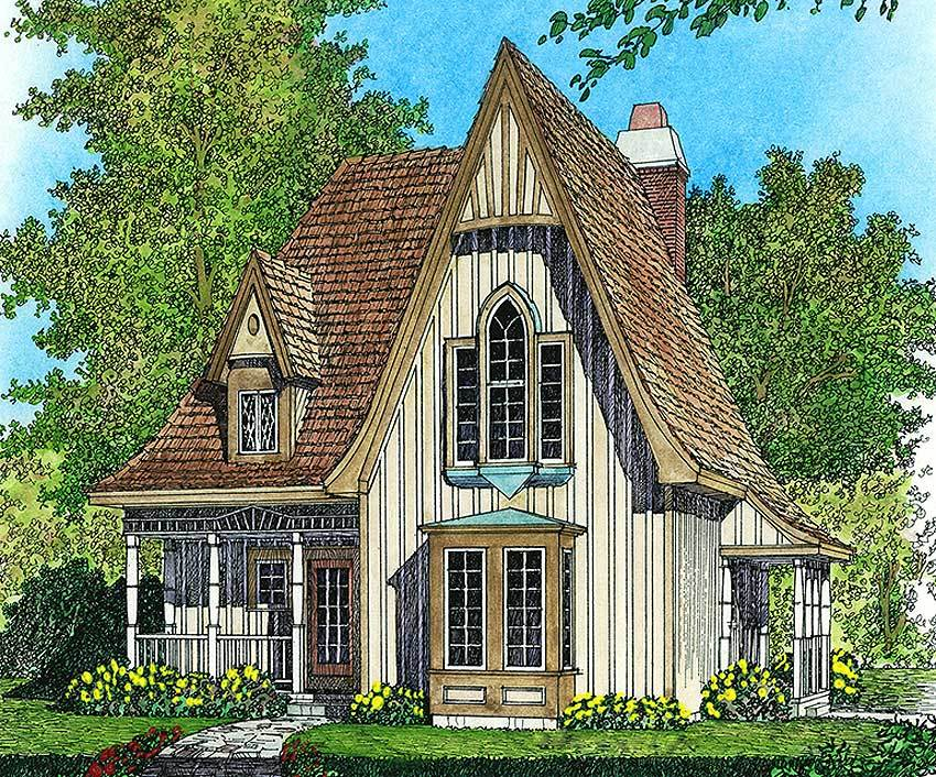 Charming gothic revival cottage 43002pf 2nd floor for Charming cottage house plans