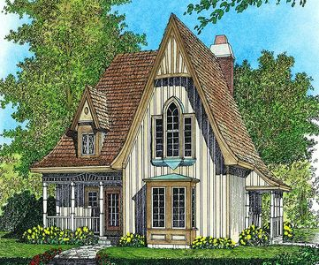 Charming gothic revival cottage 43002pf architectural for Gothic cottage plans