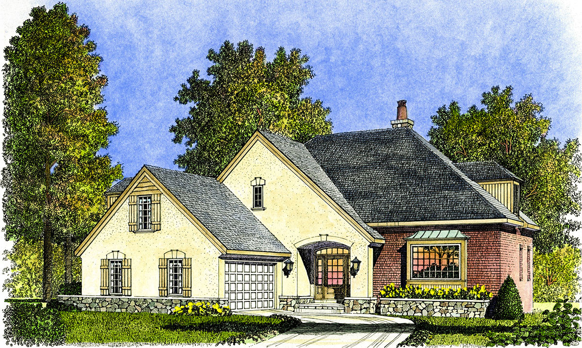 french country cottage 43003pf architectural designs house plans. Black Bedroom Furniture Sets. Home Design Ideas