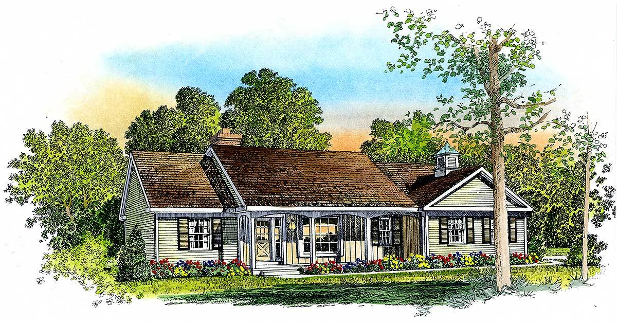 Comfortable Ranch Home Plan 43004pf Architectural
