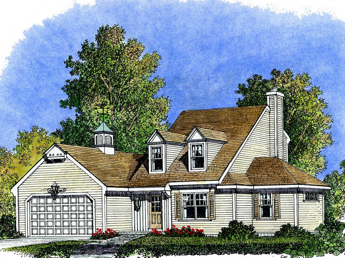 Unique cape cod 43009pf architectural designs house for Cape house designs
