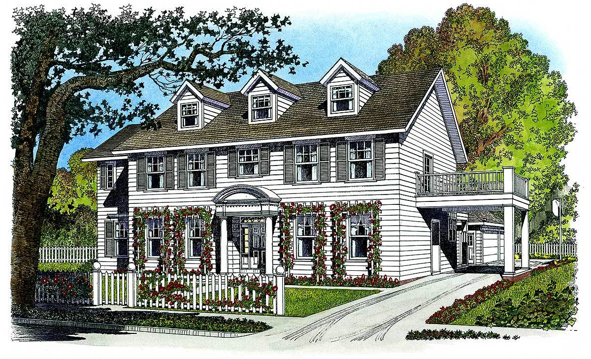 Father of the bride 43010pf architectural designs for Father of the bride house plan