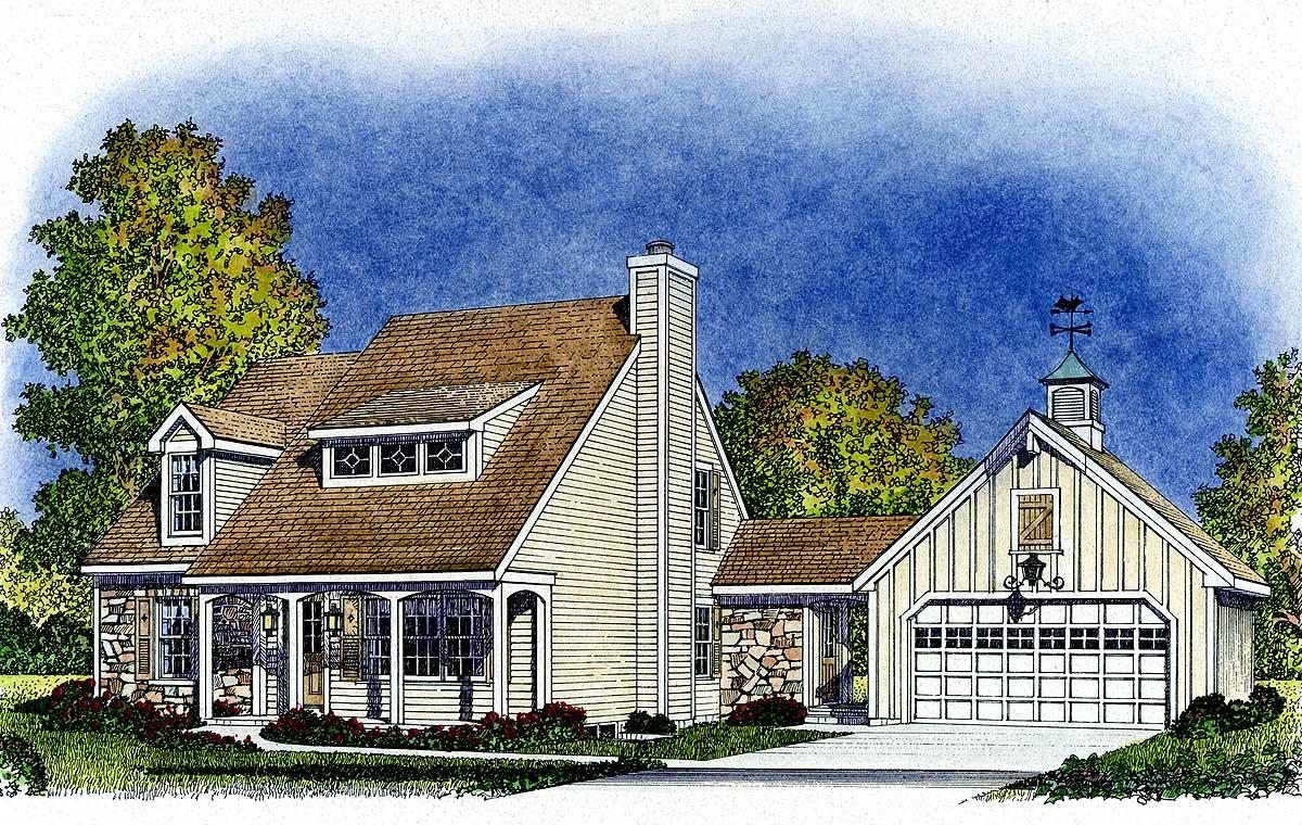 Beckoning Breezeway 43011PF Architectural Designs