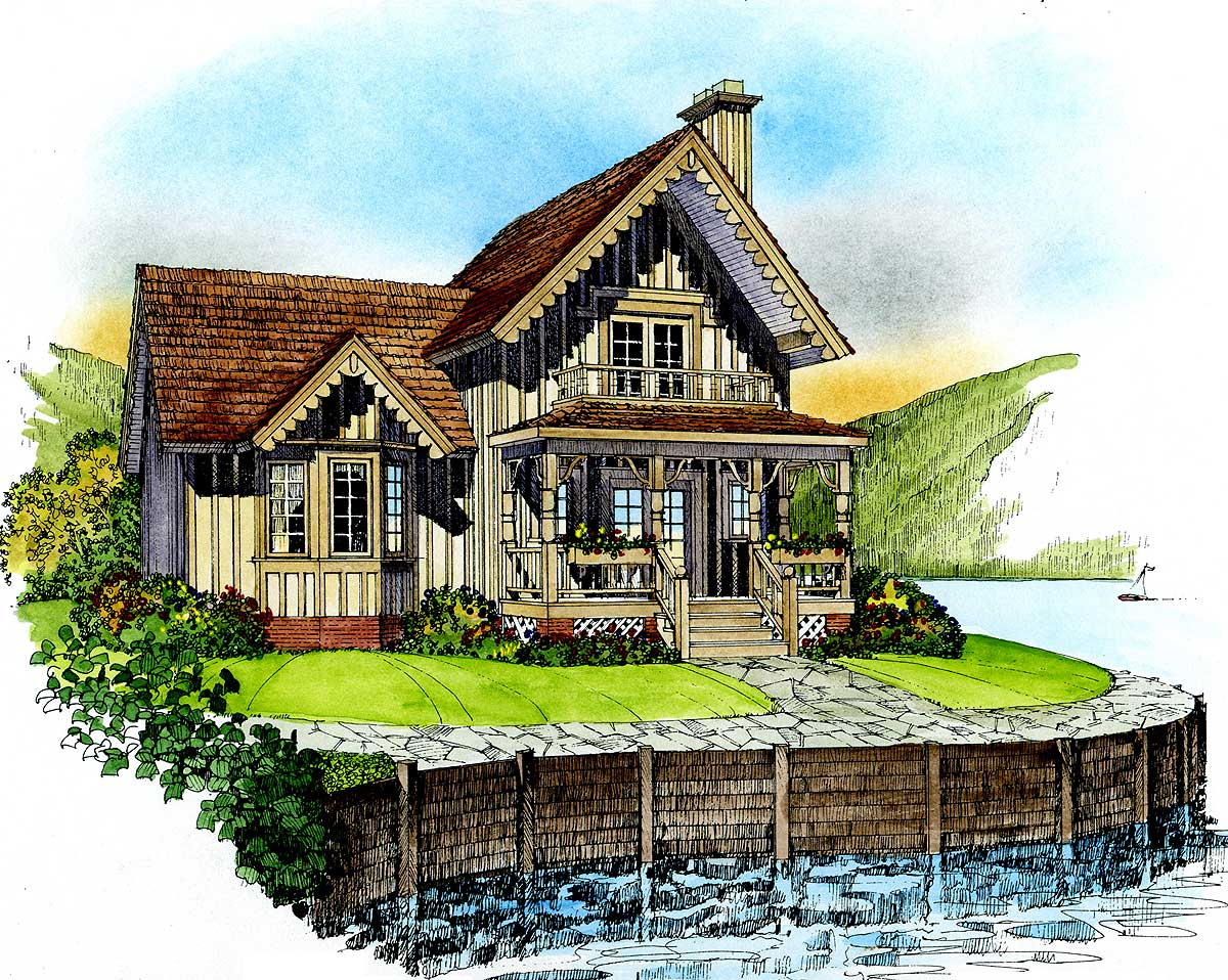 Quaint cottage 43018pf 1st floor master suite cottage for Tudor cottage plans