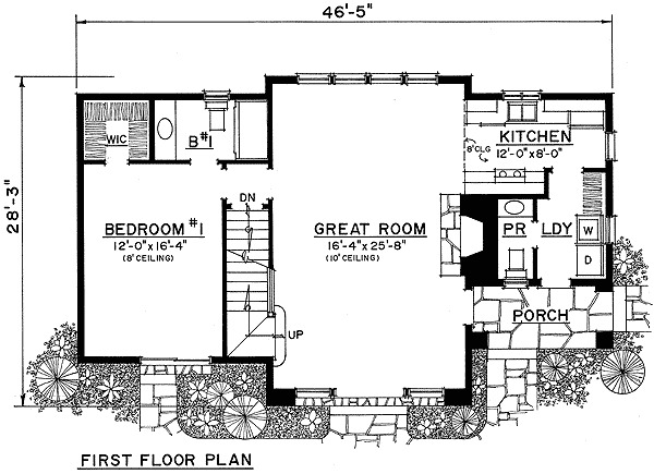 Stone cottage 43019pf 1st floor master suite cottage for Vacation home plans with loft