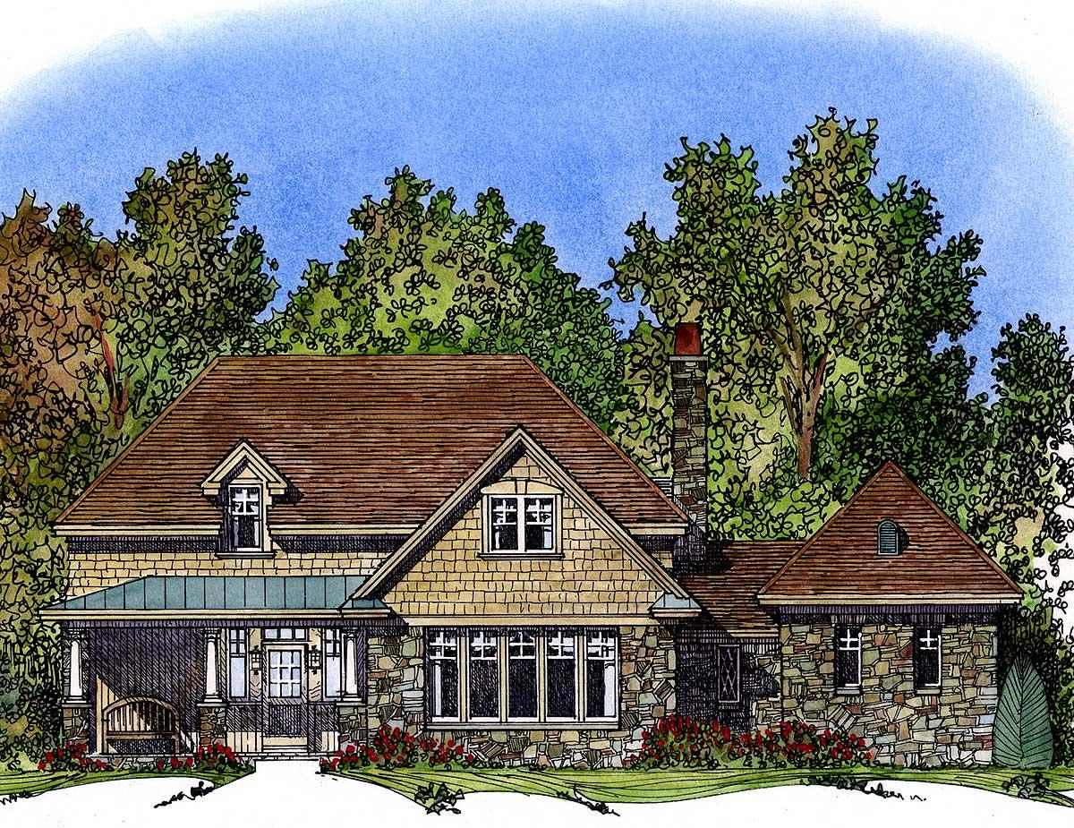 Rustic Cottage 43020pf Architectural Designs House Plans