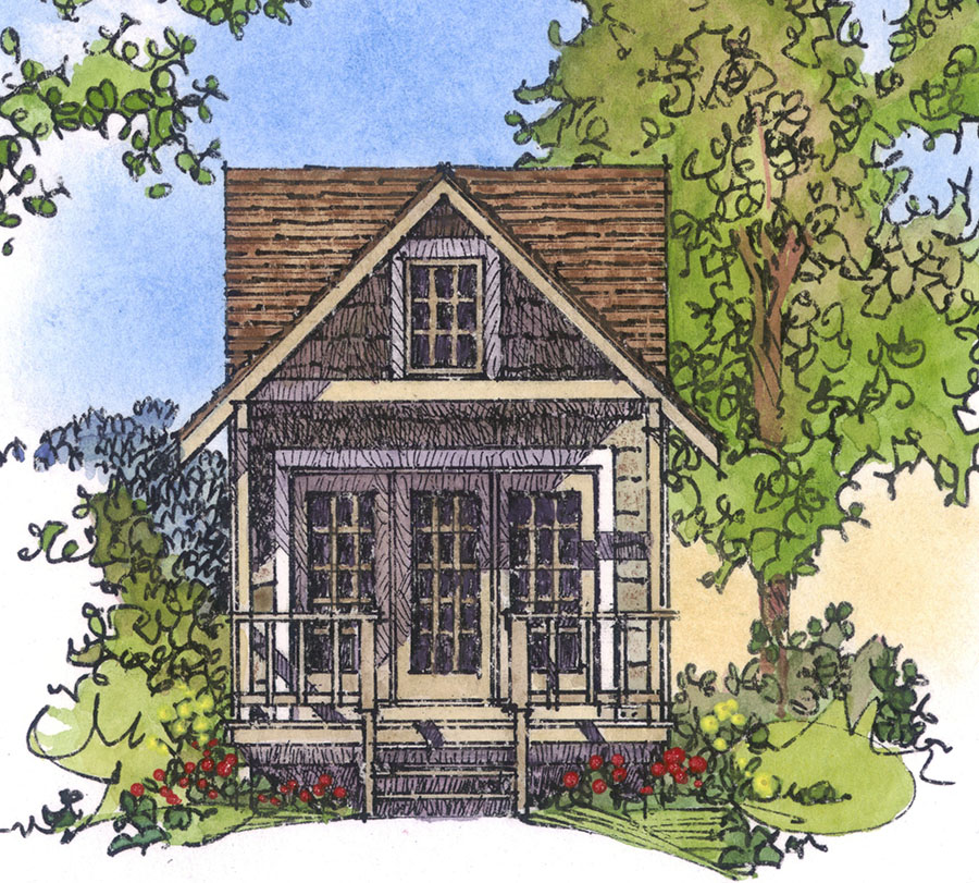 Cozy cottage retreat 43021pf architectural designs for Cottage architectural plans