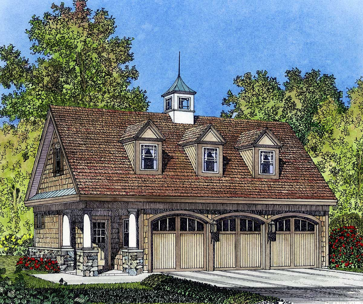 Carriage plans architectural designs for Carriage house floor plans