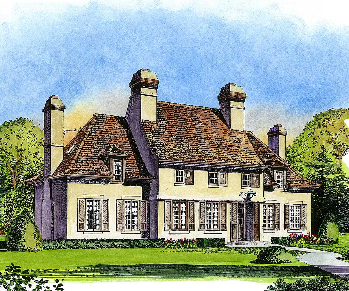 Normandy Style Manor 43030pf Architectural Designs