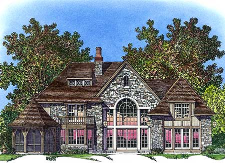 French Country Home Plan 43035pf 1st Floor Master
