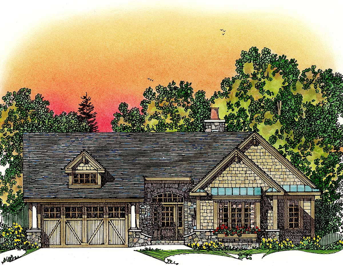 Expandable one story house plan 43039pf 1st floor for Expandable home designs