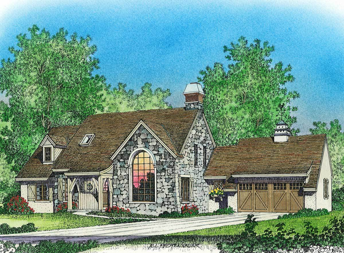 The old world is new again 43046pf architectural for Old world home plans