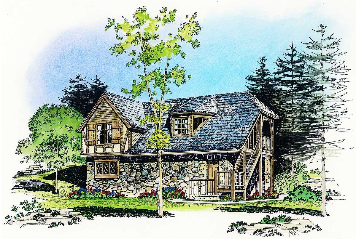 Rustic carriage house plan 43053pf architectural for Large carriage house plans