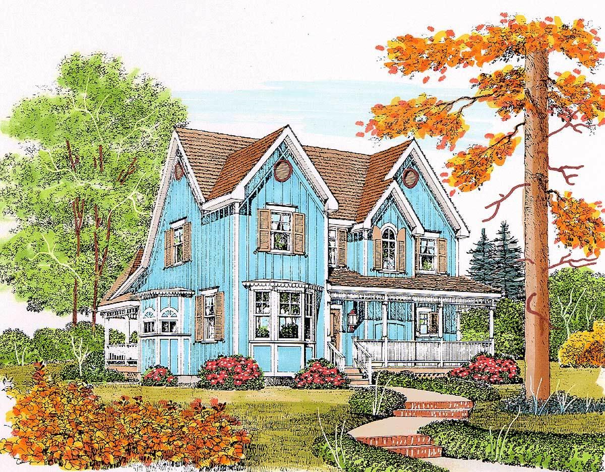 Charming Gothic Revival Farmhouse 43071pf 1st Floor