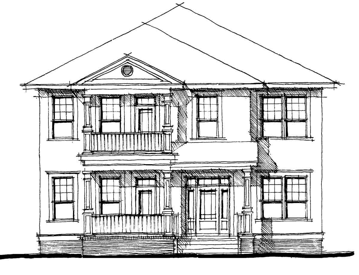 Charleston Style Double Side Porch 44014td 1st Floor