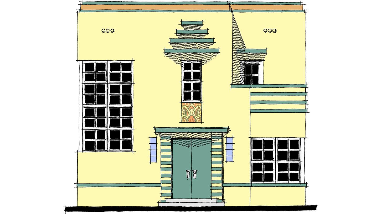 Architectural designs for Streamline moderne house plans