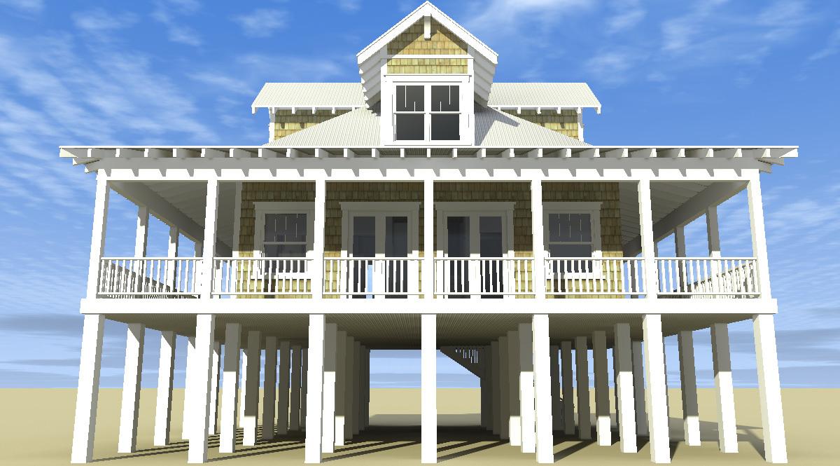 Classic Florida Cracker Beach House Plan 44026td 2nd