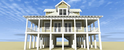 Classic Florida Cracker Beach House Plan - 44026TD thumb - 03