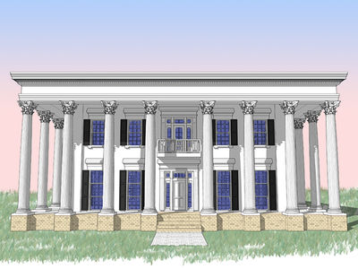 Classic Greek Revival with Fly-By - 44042TD thumb - 01
