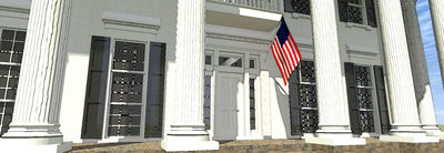 Classic Greek Revival with Fly-By - 44042TD thumb - 03