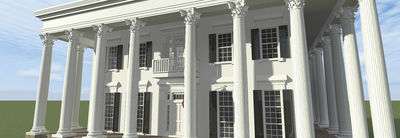 Classic Greek Revival with Fly-By - 44042TD thumb - 04