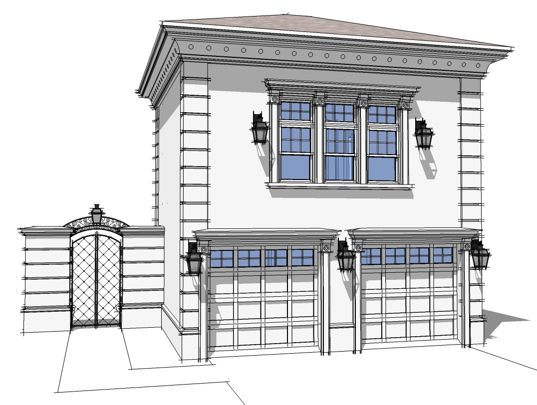 Stately carriage house 44050td 2nd floor master suite for Garage apartment plans with deck